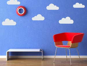 Cloud Wall Decals - Vinyl Decal Set