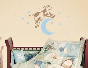 Cow Jumped Over the Moon Wall Decal Set