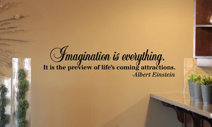 Imagination is Everything Wall Decal Albert Einstein