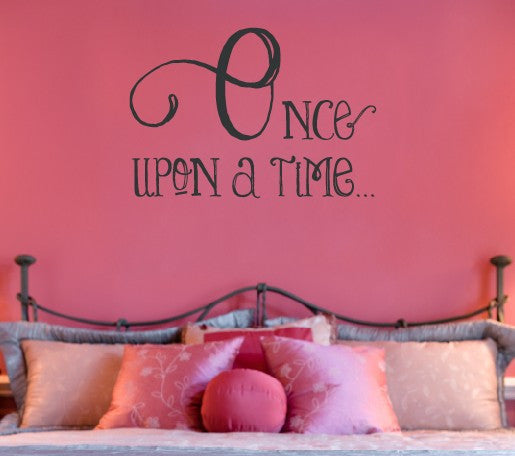 Once Upon A Time Vinyl Wall Decal