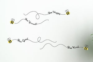 The Bee Philosophies Vinyl Wall Decal Set