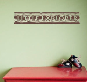 Little Explorer Wall Decal Sign