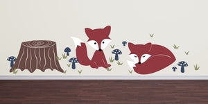 Fox Wall Decal Set -
