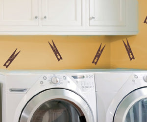 Clothespins Vinyl Wall Decals