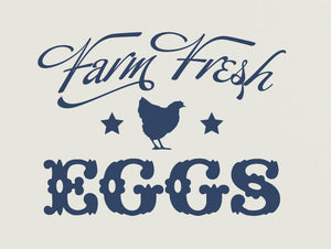 Farm Fresh Eggs Vinyl Wall Decal
