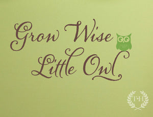 Grow Wise Little Owl Wall Decal Set
