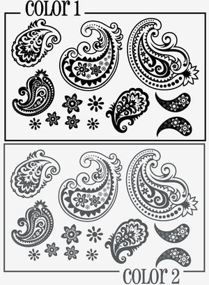 Paisley Wall Decal Set