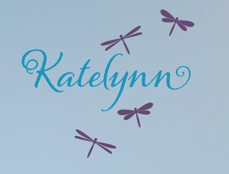 Dragonfly Name Decal Set