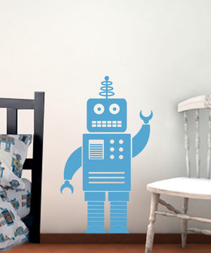 Robot Wall Decal - 3 feet tall