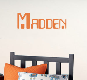 Digital Custom Name Wall Decal - Children Wall Decal - Robot Name Decal
