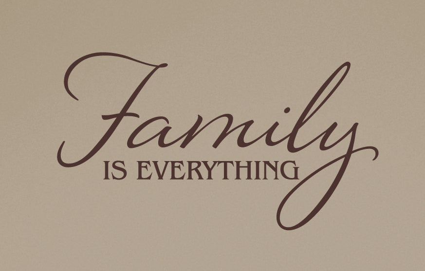 family is everything wall decal tweetheartwallart. Black Bedroom Furniture Sets. Home Design Ideas
