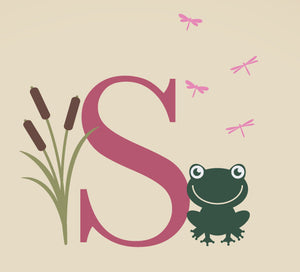 Monogram & Frog Decal Set