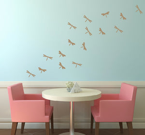 Dragonfly Vinyl Wall Decal Set - Children Nursery Girl Bedroom