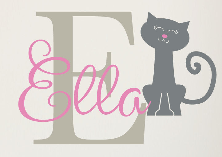 Kitty Name Decal Set