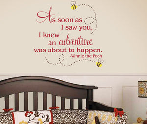 As soon as I saw you Wall Decal Set