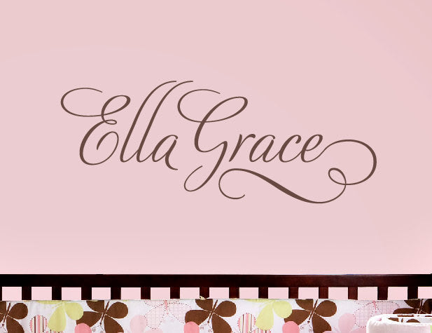 "Swirly Name Decal - 36"" wide size"
