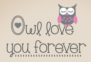 "Owl Love You Forever Wall Decal Set - 36"" size"