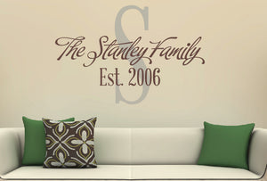 Family Wall Decal Set - Modern