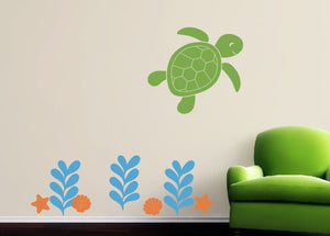 Sea Ocean Friends Wall Decals - Turtle Set