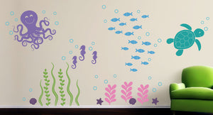 Sea Ocean Friends Wall Decal- Large Set
