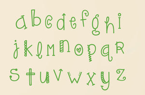 Alphabet Wall Decal Set