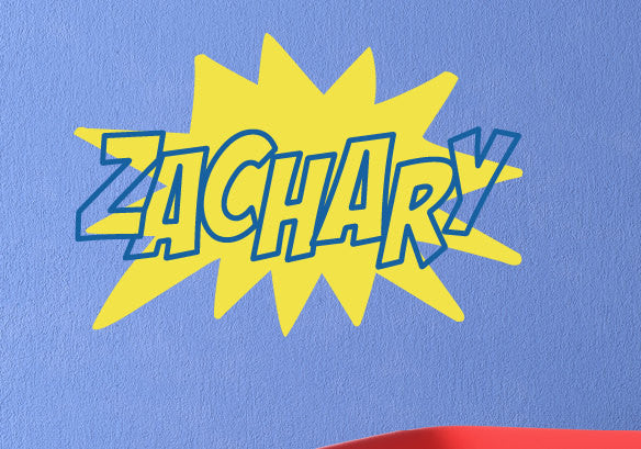 Super Hero Name Decal Set