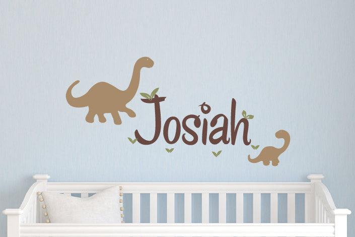 Name & Dinosaurs Decal Set