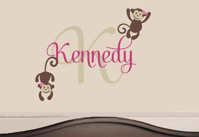 Monkeys with Name and Monogram