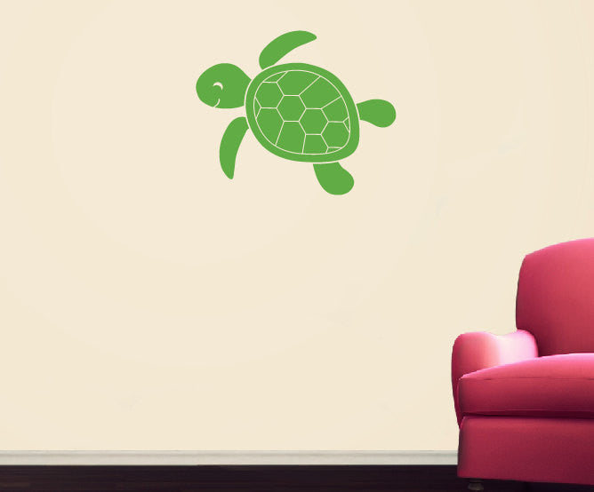 Sea Turtle Wall Decal - Sea Ocean Friends