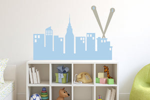 "Super Hero City Skyline Wall Decal - 40"" wide"