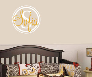 Name & Mongram Decal Set