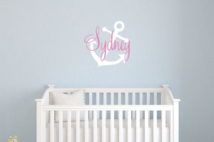 Name Decal with Large Anchor