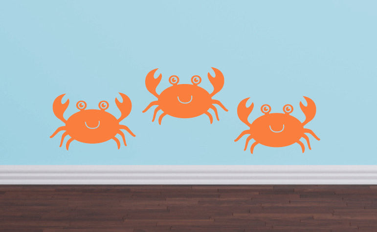 Crab Wall Decals - Sea Ocean Friends