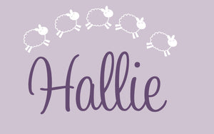 Name & Jumping Sheep Decal Set