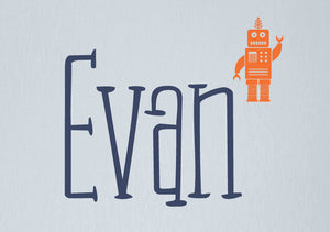 Name Decal with Robot