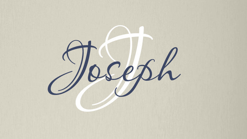 Name and Initial Wall Decal Set for boy or girl