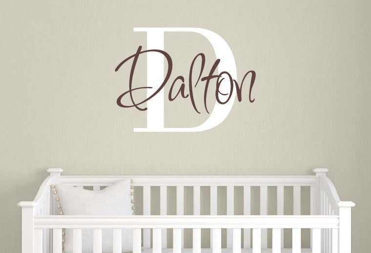 Name & Monogram Decal Set