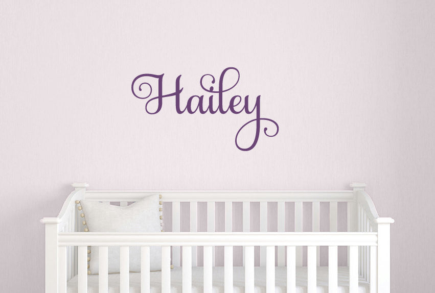 Twirly Name Wall Decal