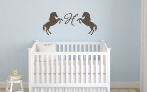 Monogam with Horses Wall Decal
