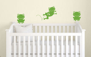 Frog Wall Decals - Set of 3