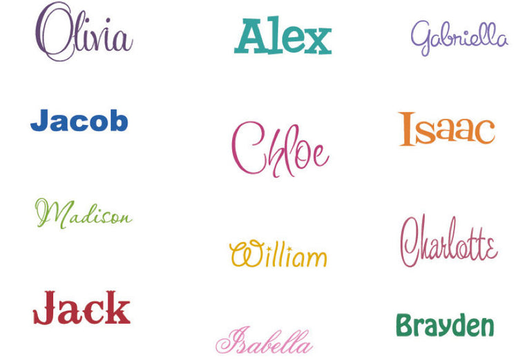 Custom Name Decal - Children Nursery Boy Girl - Vinyl Wall Decal