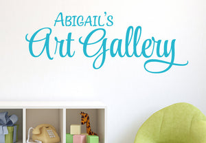 Personalized Art Gallery Wall Decal