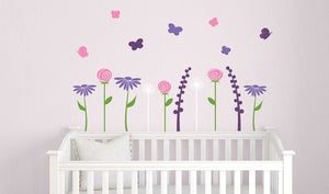 Butterfly Garden Wall Decal Set