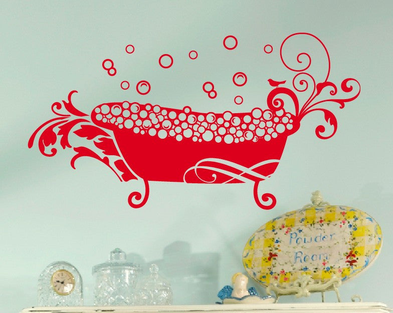 Relaxing bath Wall Decal
