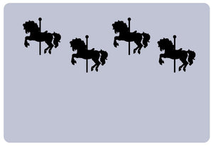 Carousel Horses Vinyl Laptop Decal - Set of 4