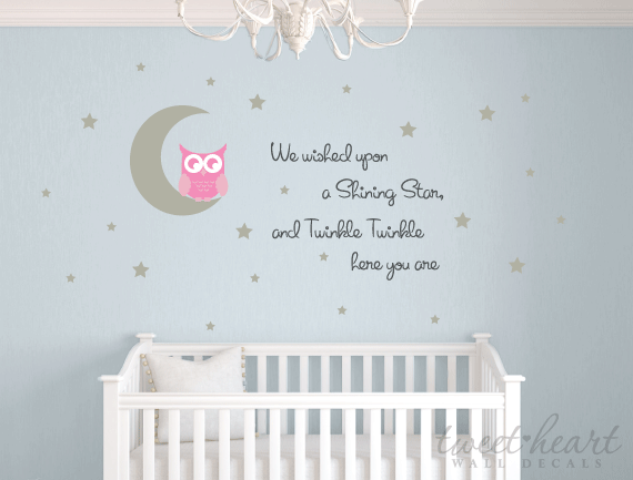 ... Owl Wall Decal Set   Twinkle Twinkle ...