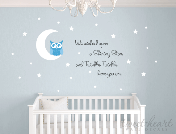 Owl Wall Decal Set - Twinkle Twinkle