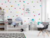 "2"" Rainbow Polka Dots Wall Decals - Set of 70"