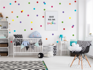 Rainbow Polka Dot Wall Decals