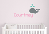 Name Wall Decal Set with Whale